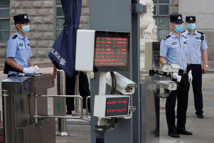 Lors du procès de l'ancien homme d'affaires Ren Zhiqiang, le 11 septembre à Pékin.