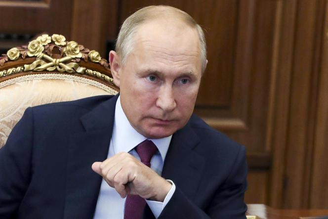 Vladimir Poutine, le 21 septembre, à Moscou.