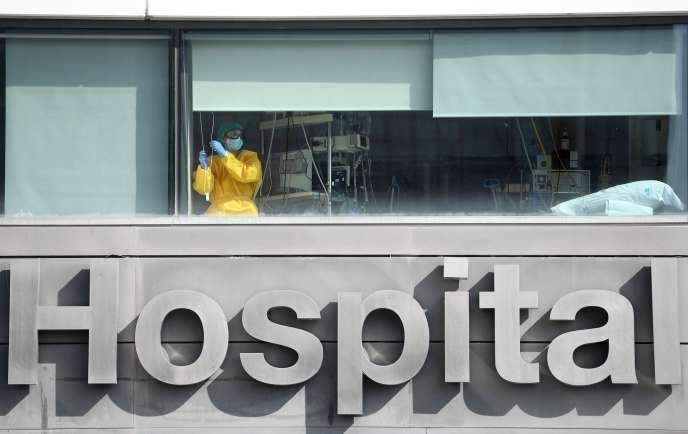 L'hôpital La Paz, à Madrid, le 22 septembre.