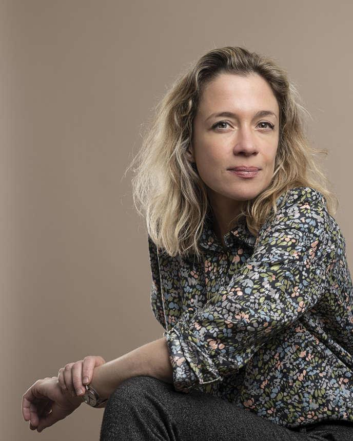 L'écrivaine Oriane JeancourtGalignani,en 2020, à Paris.