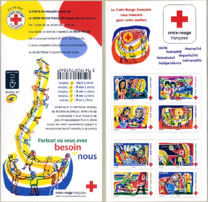 « Partout où vous avez besoin de nous. Croix-Rouge française», ensemble dessiné parLaurent Corvaisier, paru en 2017.