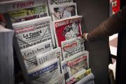 Un kiosque à journaux, le 25 février 2015 à Paris.