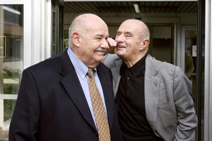 Les chefs Pierre Troisgros et Paul Bocuse, en2006.