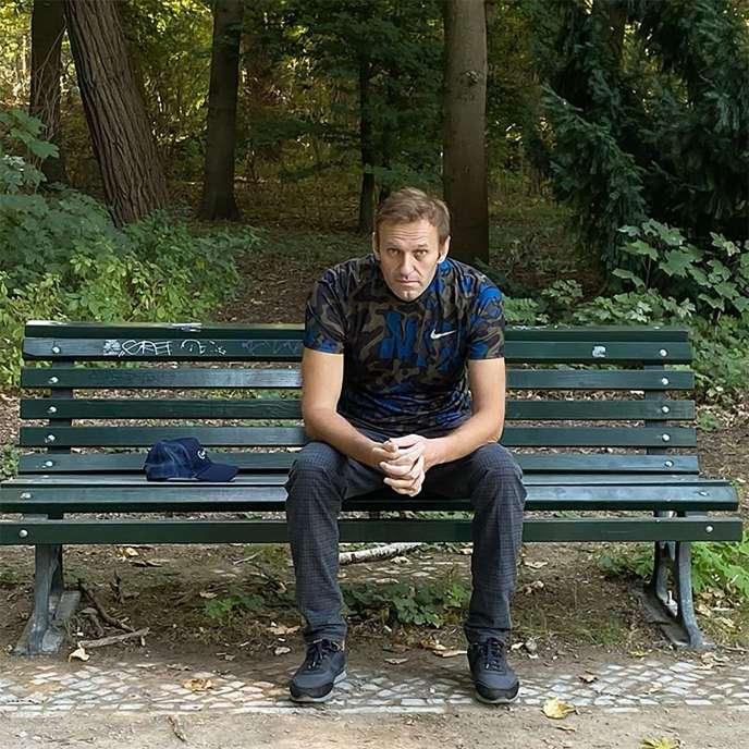 La photo que Navalny a publiée à sa sortie de l'hôpital.