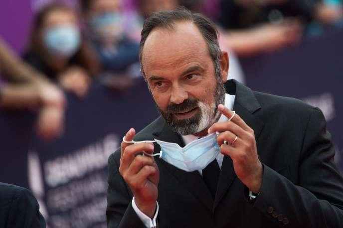 Edouard Philippe lors du Festivaldu cinéma américain deDeauville, dans le Calvados, le 4 septembre.