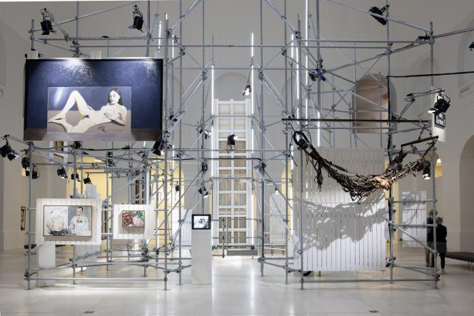 L'exposition «Archipel. Fonds de dotation Jean-Jacques Lebel», le 15 juillet 2020, au Musée d'arts de Nantes.