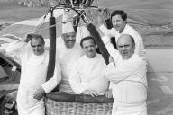 Les chefs Paul Bocuse, Pierre Troisgros, Jacques Pic, Georges Blanc et Alain Chapel en 1983.