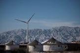 Des éoliennes installées à Guanting, en Chine.