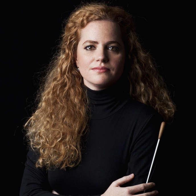La chef d'orchestre italienne Speranza Scappucci, en 2018, à Milan.