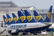Des appareils de la compagnie irlandaise Ryanair, pointée par certains syndicats de pilotes pour son dumping social.