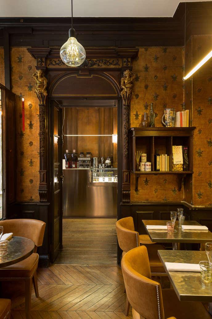 Le Caffè Stern, passage des Panoramas, à Paris.