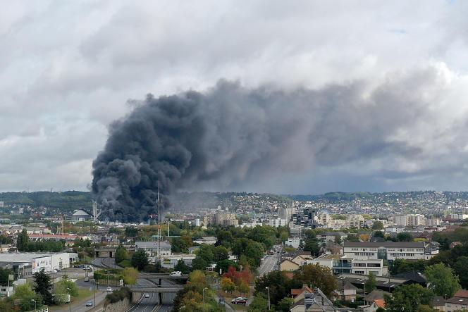 L'incendie de l'usine Lubrizol, le 26 septembre 2019.
