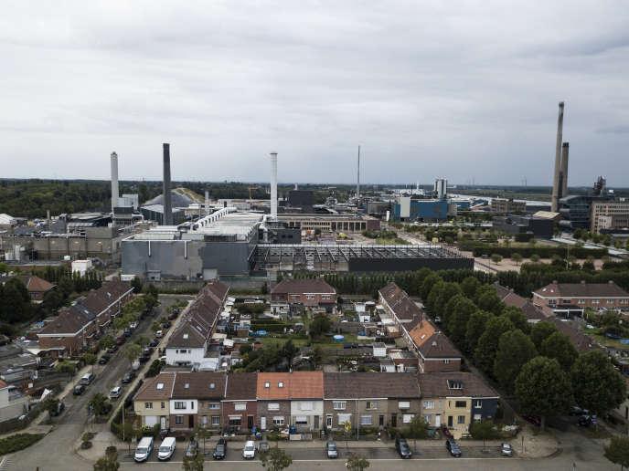 L'usine Umicore d'Hoboken, à Anvers, le 19 août.