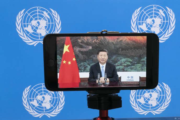 Le président chinois, Xi Jinping, le 22 septembre devant l'assemblée générale de l'ONU à New York.