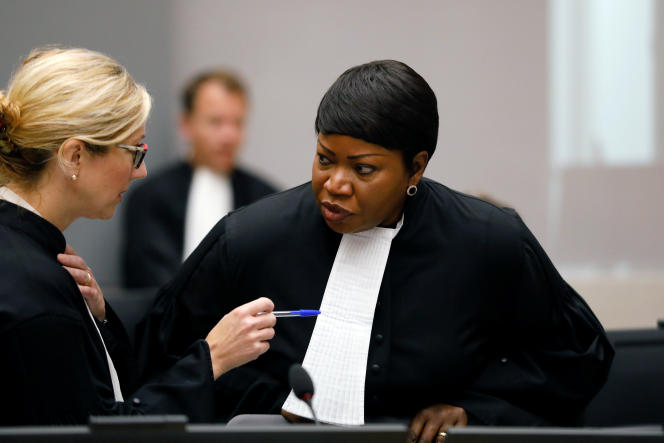 La procureure de la CPI, Fatou Bensouda, le 28 août 2018 à La Haye.