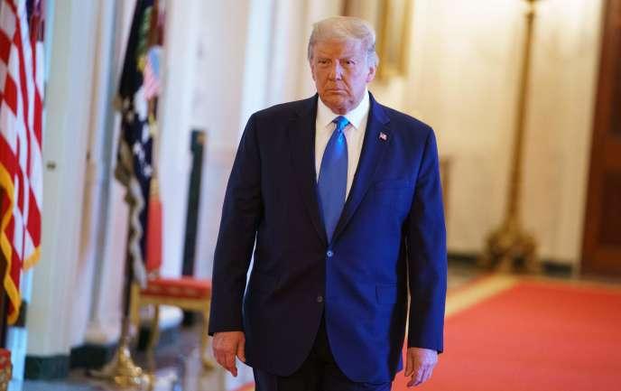 Donald Trump a honoré les vétérans de la Baie des cochons à la Maison Blanche, à Washington, mercredi 23 septembre.