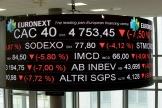 Les indices des entreprises cotées au CAC 40 sont en baisse, le 9 mars.