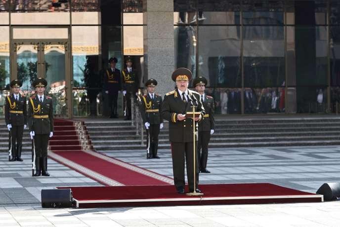 Le président de la Biélorussie, Alexandre Loukachenko, le 23 septembre à Minsk.