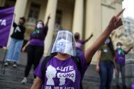 Lors d'une manifestation pour le droit des femmes, à Rio, de 24 août.