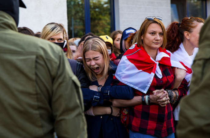 Des opposantes biélorusses à Minsk, le 19 septembre.