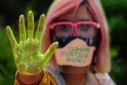 Lors d'une marche ppour le climat à Quezon (Philippines), le 25 septembre 2020.