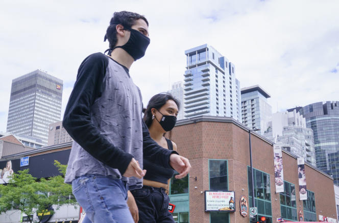 Rue Sainte-Catherine, à Montréal, septembre 2020.