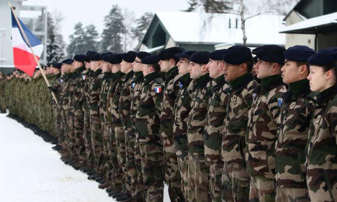 Des soldats français à Rukla, en Lituanie, dans le cadre de l'OTAN