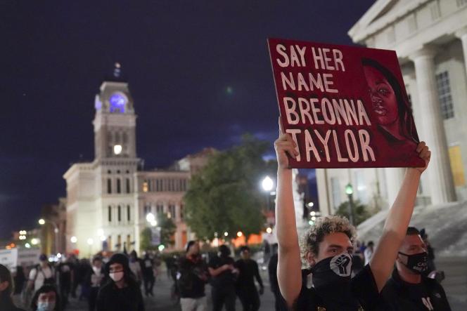 Manifestation à Louisville (Kentucky), le 24septembre.
