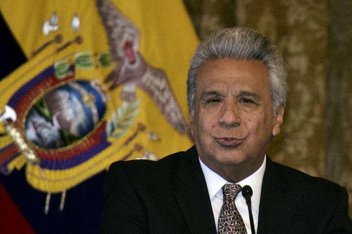 Leprésident équatorien, Lenin Moreno, à Quito, le 10mars.