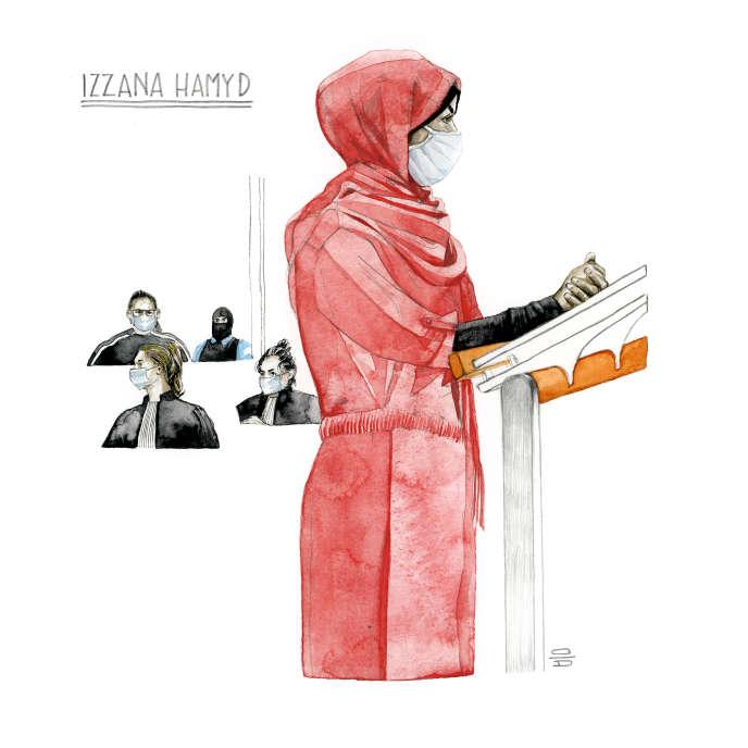 Izzana Hamyd entendue lors du procès des attentats de janvier 2015, le 25 septembre 2020.