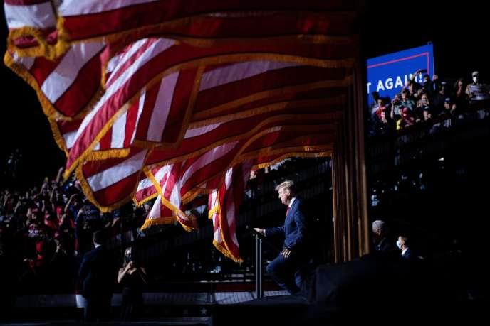 Le président américain, Donald Trump, à Newport News, en Virginie, le 25septembre.
