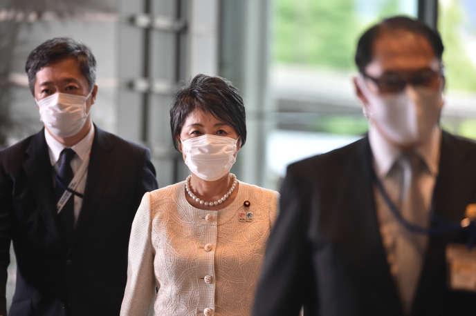 La ministre japonaise de la justice, Yoko Kamikawa, à Tokyo le 16 septembre 2020.Le cabinet formé par Yoshihide Suga ne compte que deux femmes sur 21 ministres.