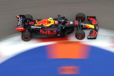 Formula One F1 - Russian Grand Prix - Sochi Autodrom, Sochi, Russia - September 26, 2020. Red Bull's Alexander Albon during qualifying. Pool via REUTERS/Bryn Lennon