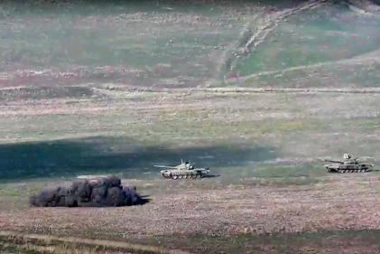 Images diffusées par le ministère de la défense arménien, le 27 septembre 2020.