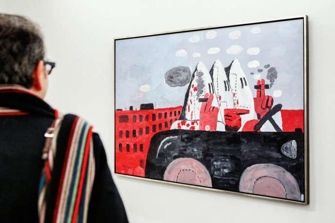 «Riding Around» (1969), de Philip Guston, exposée ici à Hambourg, en février 2014.