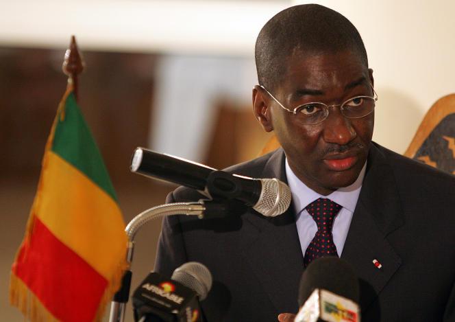 Moctar Ouane, alors ministre des affaires étrangères du Mali, à Bamako, en mars 2008.