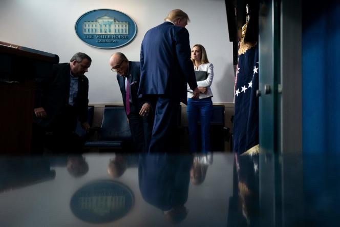 Donald Trump après une conférence de presse à la Maison Blanche à Washington, le 27 septembre.