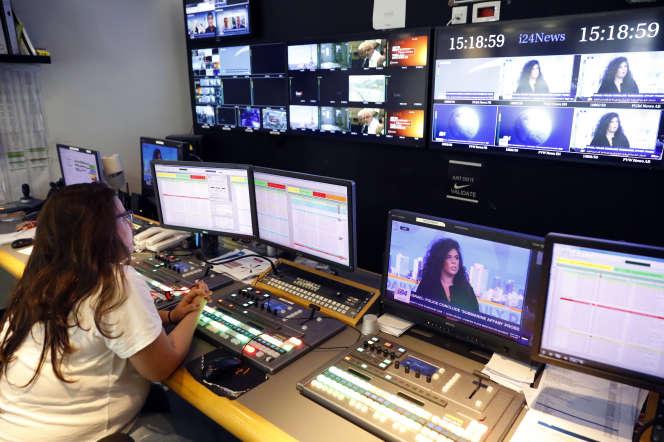Dans un studio de télévision parisien, en 2018.