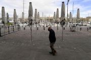 Une terrasse fermée sur le Vieux-Port à Marseille, le 28 septembre.