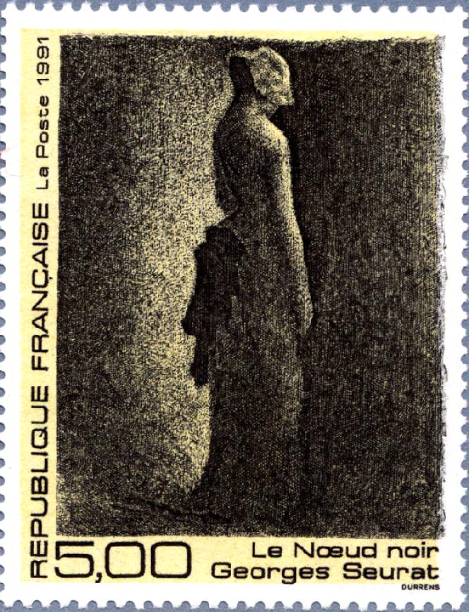 « Le Noeud noir», de Georges Seurat, gravé par Claude Durrens (1991).