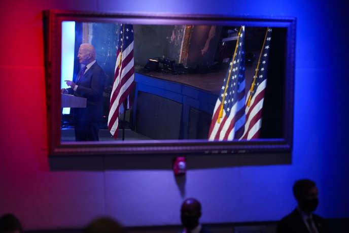 Joe Biden lors d'un discours sur la Cour suprême à Wilmington, dans le Delaware, le 27 septembre.