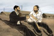 Josep Bartoli (à droite) sous les traits dessinés d'Aurel.