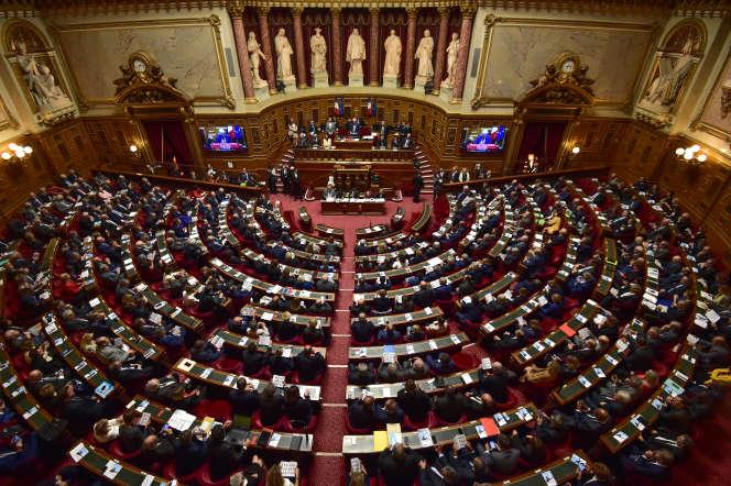 Au Sénat, dans le Palais du Luxembourg, le 2 octobre 2017.