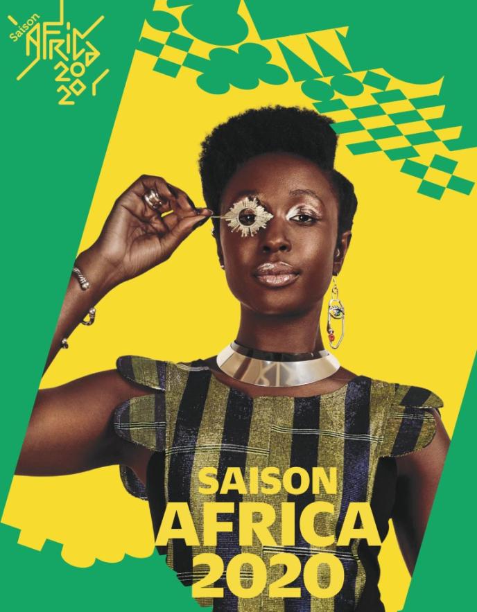 Affiche de la saison culturelle Africa 2020 organisée par le ministères de la culture et celui des affaires étrangères notamment.