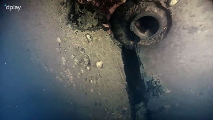 <p>Une image de l'épave du documentaire diffusé par la plateforme Dplay.</p>