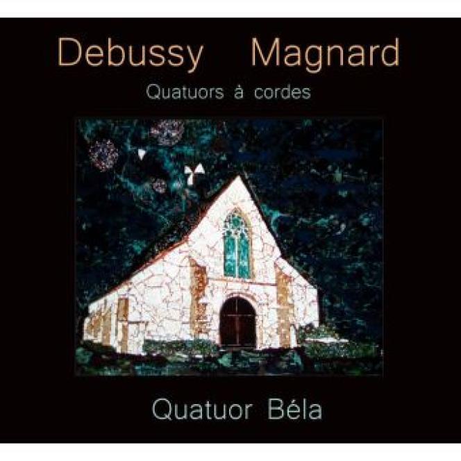 Pochette de l'album «Debussy-Magnard», par leQuatuor Béla.