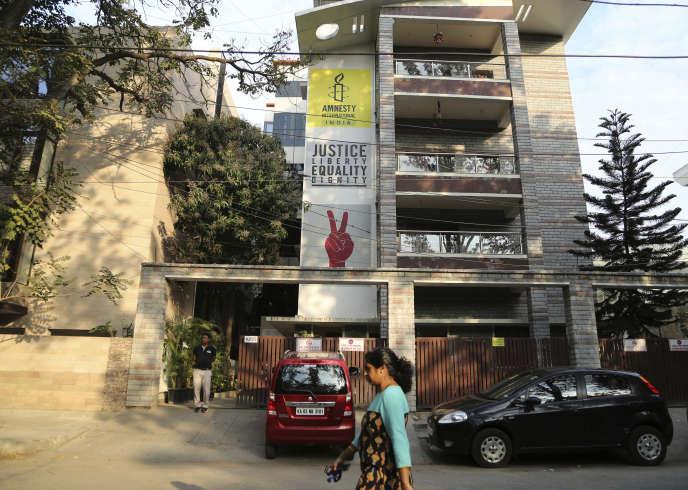 Le siège de l'ONG Amnesty International en Inde, à Bangalore, le 5 février 2019.