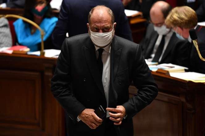 Eric Dupond-Moretti, ministre de la justice, à l'Assemblée nationale, le 29septembre.