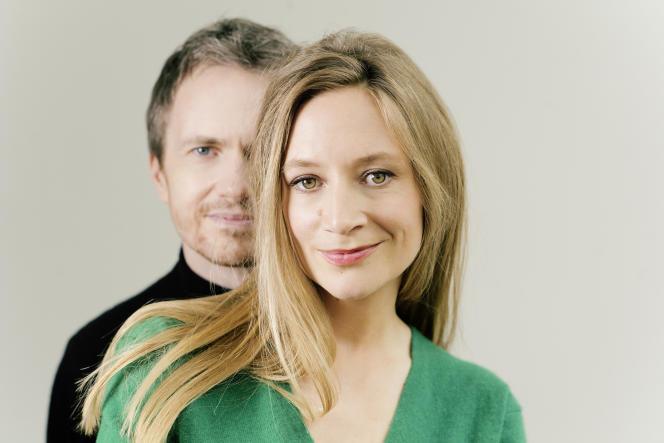 Le pianiste Alexandre Tharaud et la soprano Sabine Devieilhe, le 15 mai, dans le 15e arrondissement de Paris.