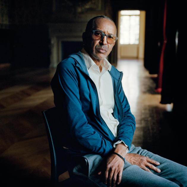 Abderrahmane Sissako, cinéaste et producteur mauritanien, au Théâtre du Châtelet à Paris, le 22 septembre.